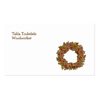 Wood Wreath Business Card Templates