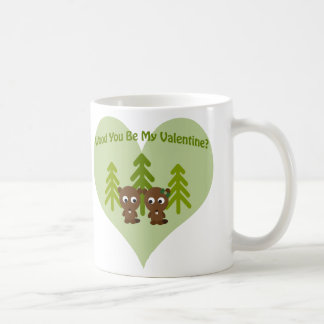 Wood You Be My Valentine Coffee Mug