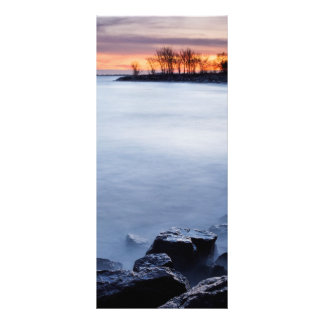 Woodbine Beach Toronto Ontario Canada at Sunrise Rack Card Design