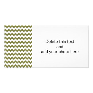 Woodbine White Chevron Pattern Picture Card