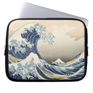 Woodblock print by Katsushika Hokusai Laptop Sleeve