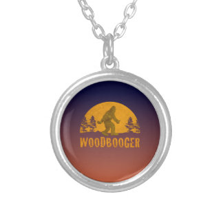 Woodbooger Vintage Sunset Silver Plated Necklace