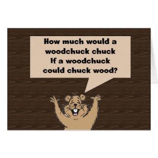 Woodchuck Tongue Twister Card