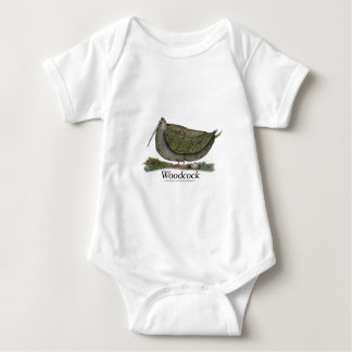 woodcock bird, tony fernandes baby bodysuit