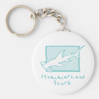 Woodcut Hammerhead Shark Key Ring