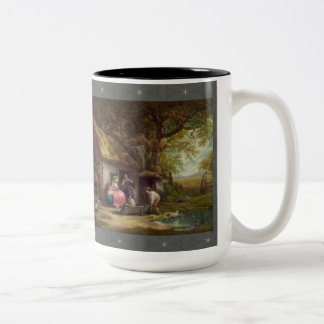 Wooded Cottage Two-Tone Coffee Mug