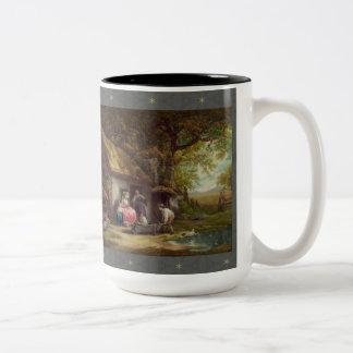 Wooded Cottage Two-Tone Mug