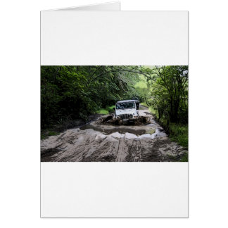 Wooded Jeep Card
