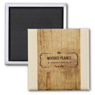 wooded plane carpentry magnet