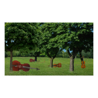 Wooded String Quartet Poster
