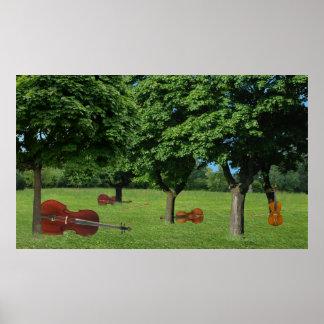 Wooded String Quartet Print