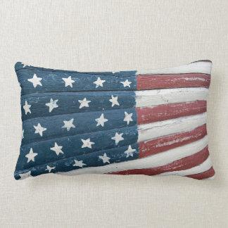 wooden American flag Lumbar Cushion