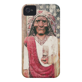Wooden Antique Cigar Store Indian iPhone 4 Cases