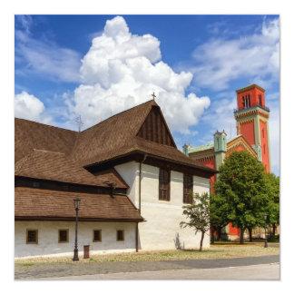 Wooden articular church in Kezmarok, Slovakia Card