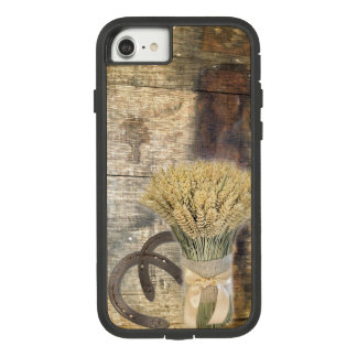 Wooden Barrel western country horseshoe wheat Case-Mate Tough Extreme iPhone 8/7 Case