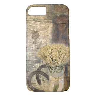 Wooden Barrel western country horseshoe wheat iPhone 8/7 Case