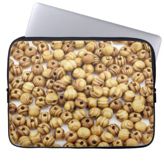 Wooden beads | laptop sleeve