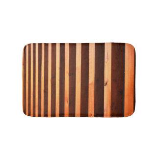 Wooden beams bath mats