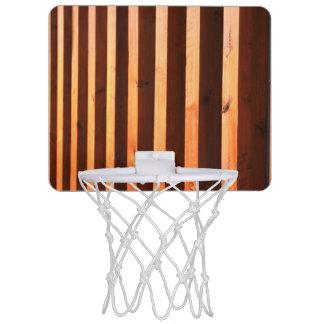 Wooden beams mini basketball hoop