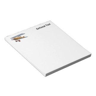 Wooden Biplane Notepad