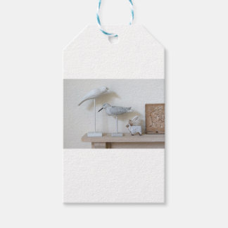 Wooden birds and birch sheep gift tags