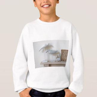 Wooden birds and birch sheep sweatshirt