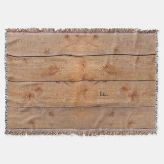 """""""Wooden"""" Blanket with (or without) your Initial(s)"""