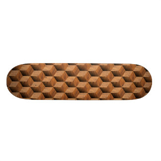 Wooden Block Pattern - Retro Skate Decks