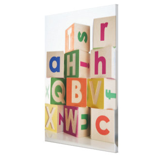 Wooden blocks gallery wrapped canvas