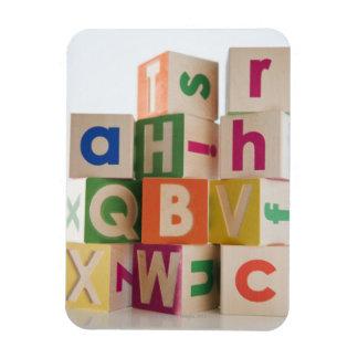 Wooden blocks rectangular magnets