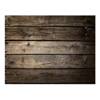 Wooden Board Background Postcard