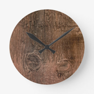 Wooden board wall clock