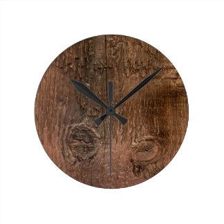 Wooden board wall clock