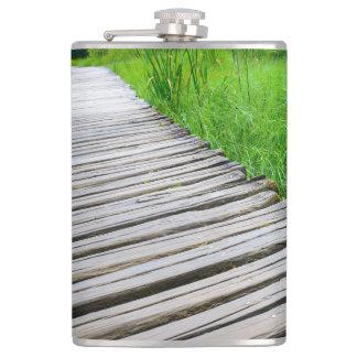Wooden Boardwalk Hiking Trail Flasks