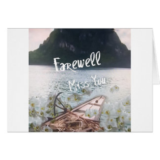 wooden boat  miss you.PNG Card