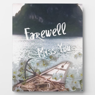 wooden boat  miss you.PNG Photo Plaque