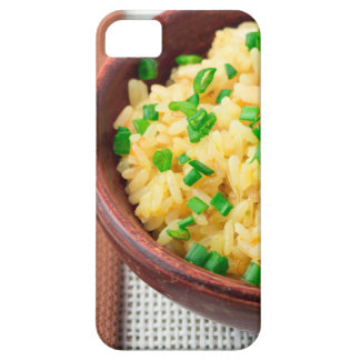 Wooden bowl of cooked rice and vegetables case for the iPhone 5