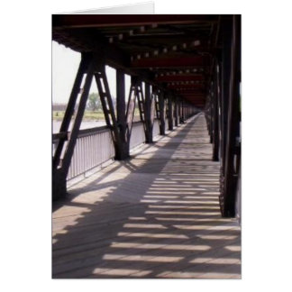 Wooden Bridge Card