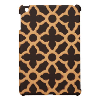 wooden brown floral abstracts designs case for the iPad mini