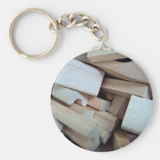 Wooden Building Blocks Key Chain