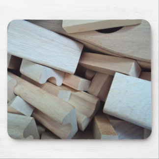 Wooden Building Blocks Mouse Pad