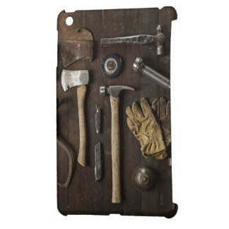 wooden carpentry handyman tools collection cover for the iPad mini