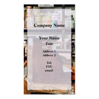 Wooden Cash Register in General Store Double-Sided Standard Business Cards (Pack Of 100)