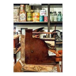 Wooden Cash Register in General Store Custom Announcements