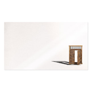 Wooden castle door locked and unlocked pack of standard business cards