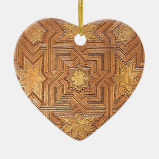 Wooden Ceiling with Golden Stars The Alhambra Ceramic Ornament