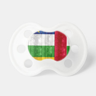 Wooden Central African Flag Pacifier
