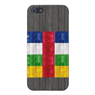 Wooden Central African Flag iPhone 5 Cases