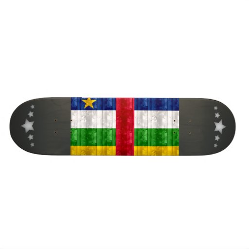 Wooden Central African Flag Custom Skate Board
