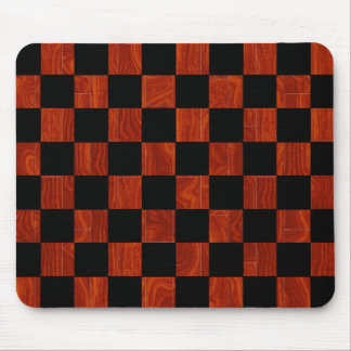 Wooden Checkerboard Mouse Pad
